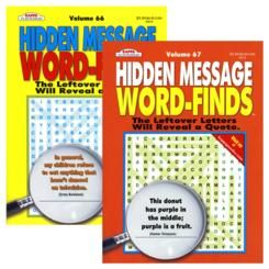 Bazic KAPPA Hidden Message Word Finds Book, Case Pack of 48