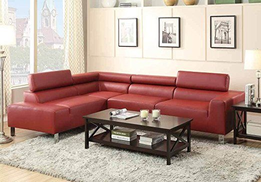 1PerfectChoice Modern Sectional Sofa Chaise Bonded Leather
