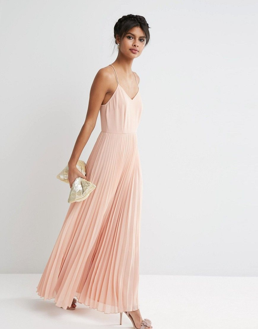 ASOS Woven Cami Maxi Dress With Pleated Skirt at www.asos.com ... 06dcf21d3