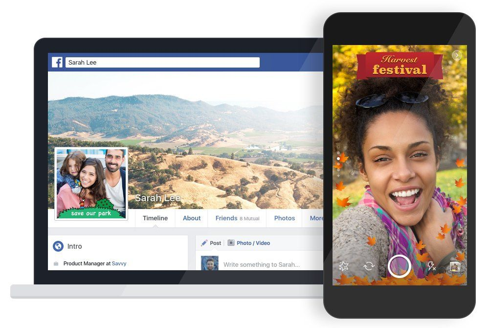 Facebook now lets you create your own frame for photos and videos - https://www.aivanet.com/2016/12/facebook-now-lets-you-create-your-own-frame-for-photos-and-videos/