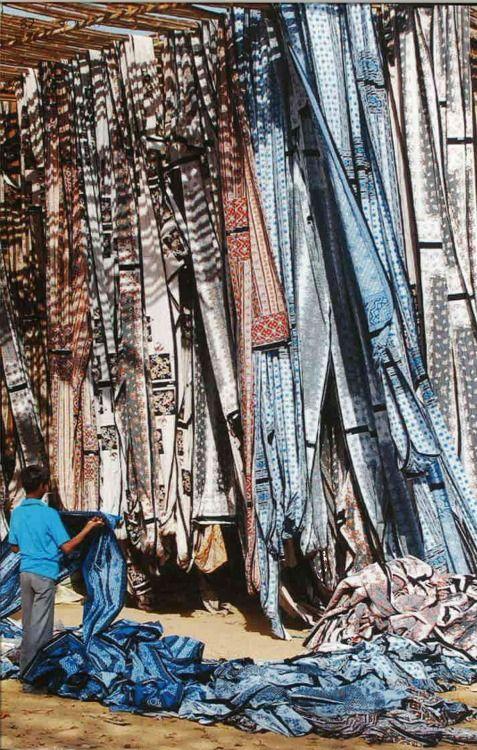 Fabric drying, India