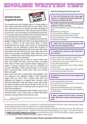 Free Esl Efl Printable Worksheets And Handouts English Reading Spelling And Grammar English Lessons 12th grade english worksheets