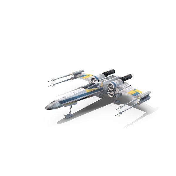 Blue X Wing Starfighter Object Pixelsquid Com S106005941 Starfighter X Wing Starfighter X Wing