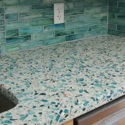 Sea Gl And Cement Countertops