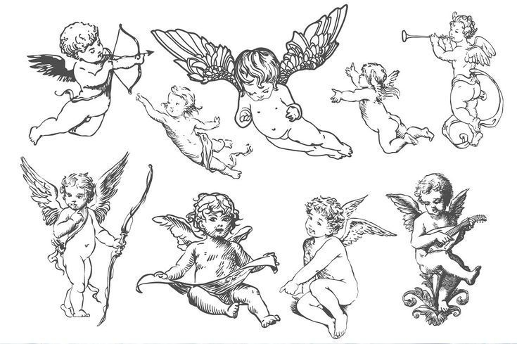 Angels #and #Cupids #collection. ##day#valentine#AI#includes ,  #angeltattoo #Angels #Collect...#angels #angeltattoo #collect #collection #cupids #dayvalentineaiincludes