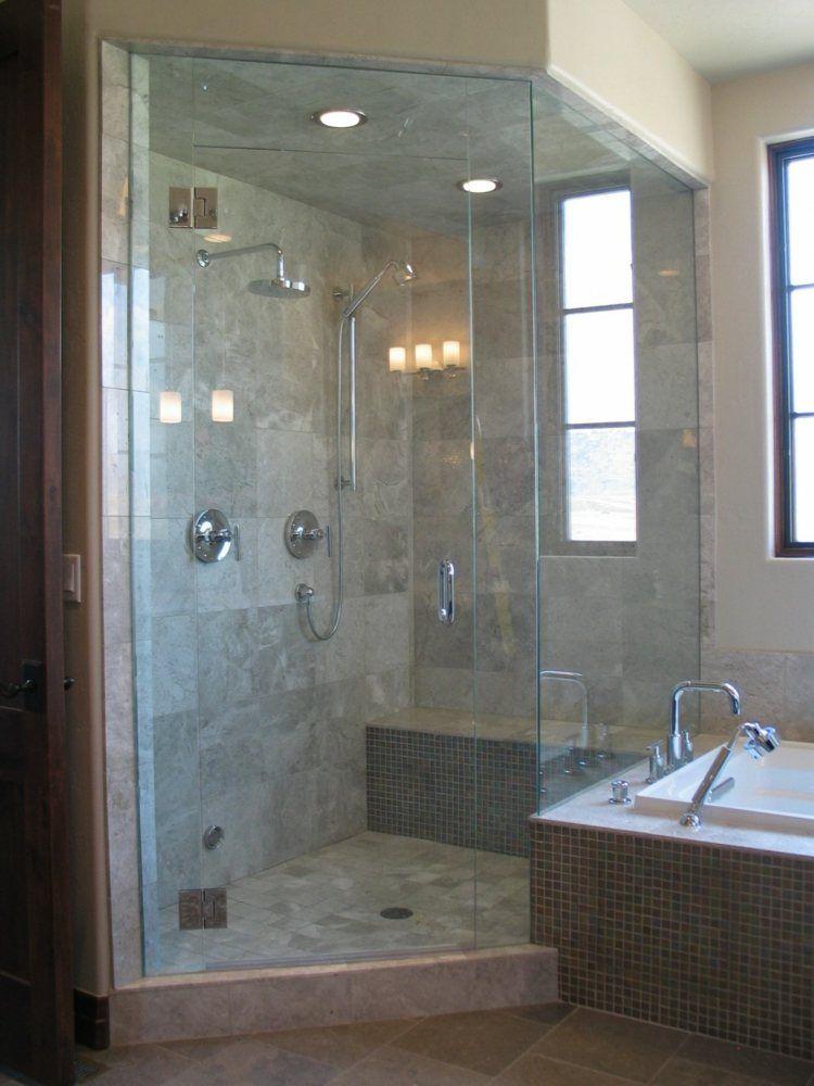 Salle de bain avec douche italienne en quelques idées déco