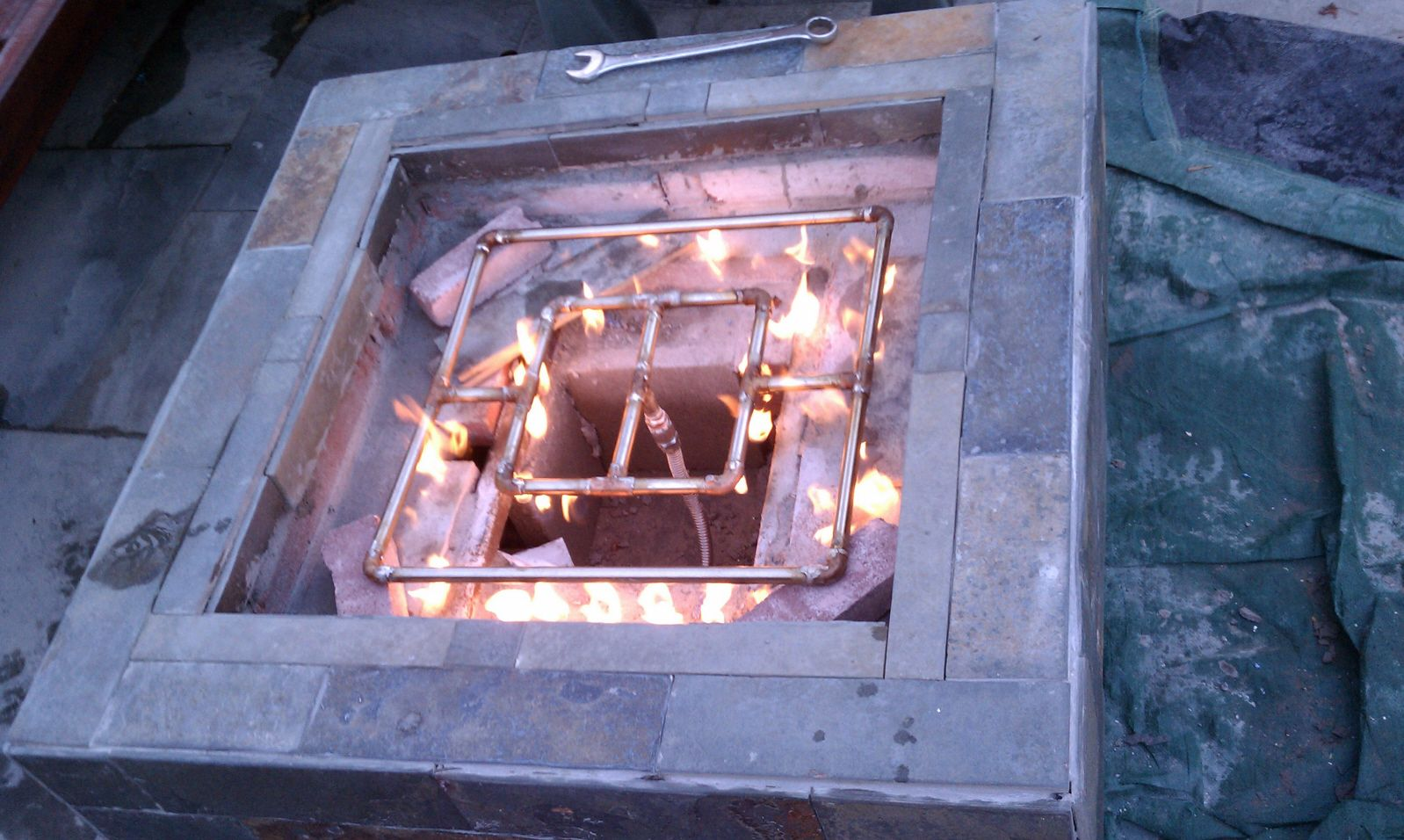 How To Build An Outdoor Natural Gas Firepit Diy Gas Fire Pit