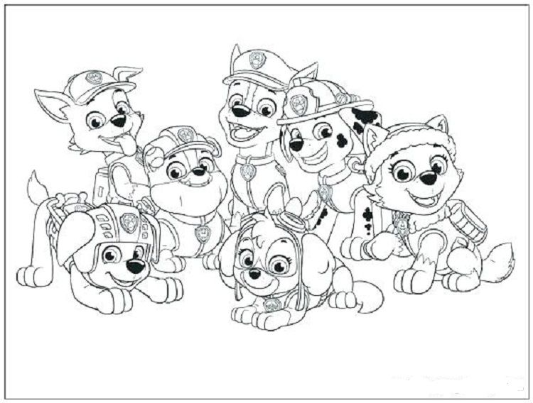 Paw Patrol Characters Coloring Pages Paw Patrol Coloring Paw