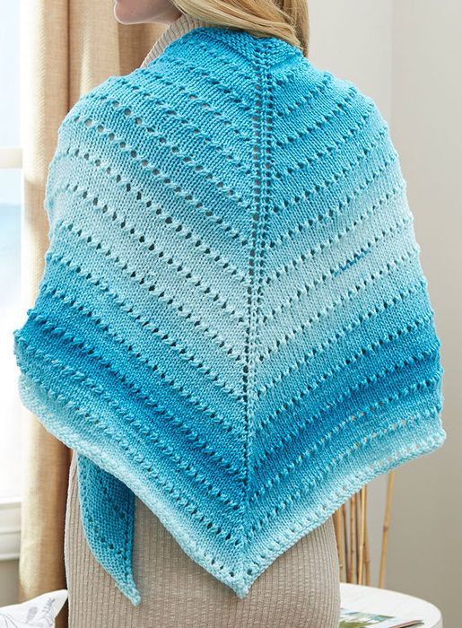 Easy Shawl Knitting Patterns | Stockinette, Knitting patterns and Shawl