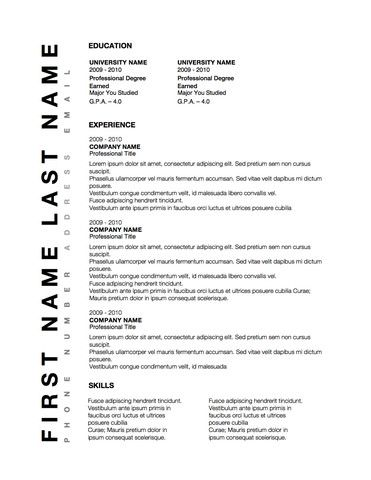 Conservative Business Resume Design Word Template  Original