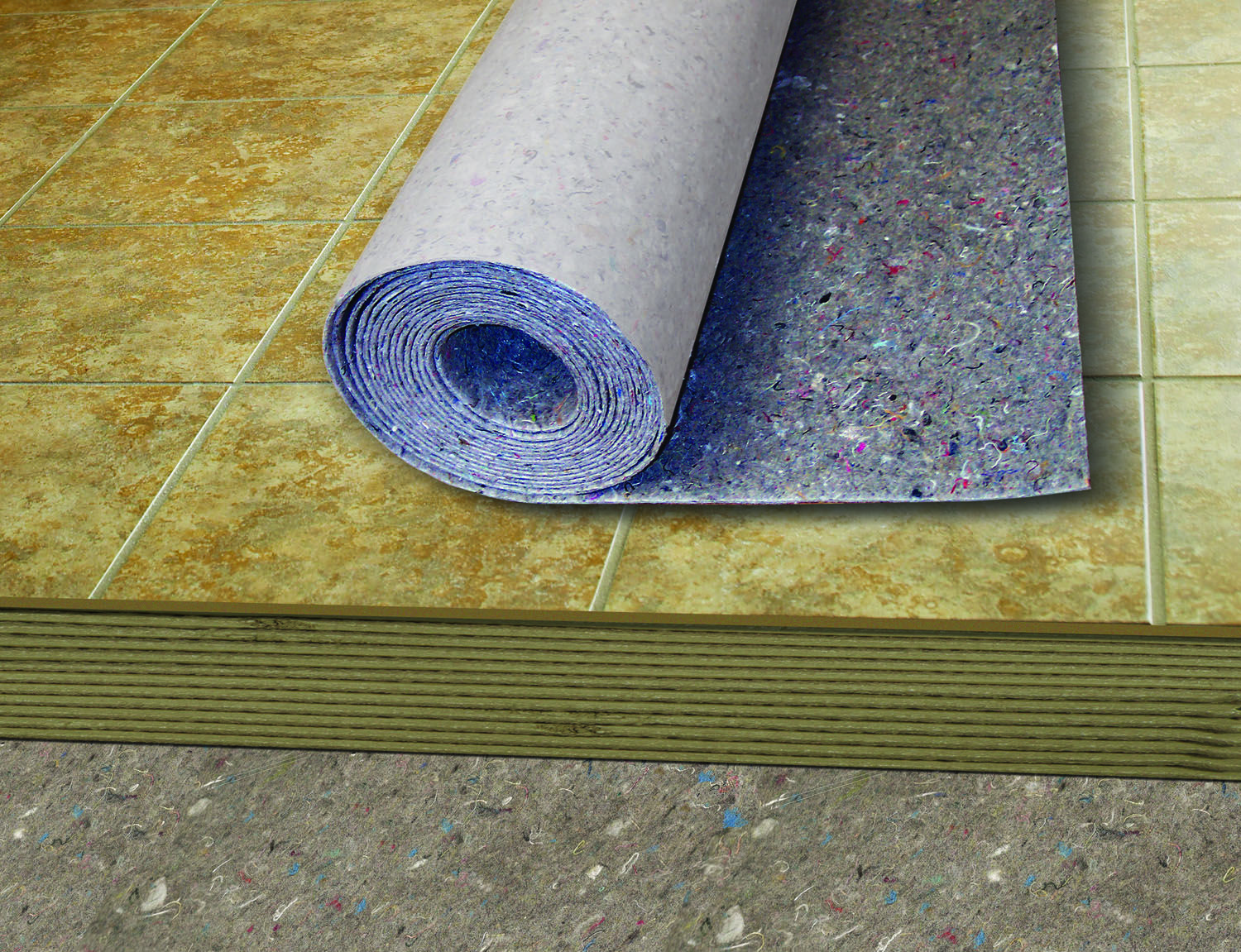 Ultralayer Peel Stick Is Blue But Also Green Made Primarily Of Recycled Post Industrial Pre Consumer Underlayment Flooring Underlayment Sound Absorption