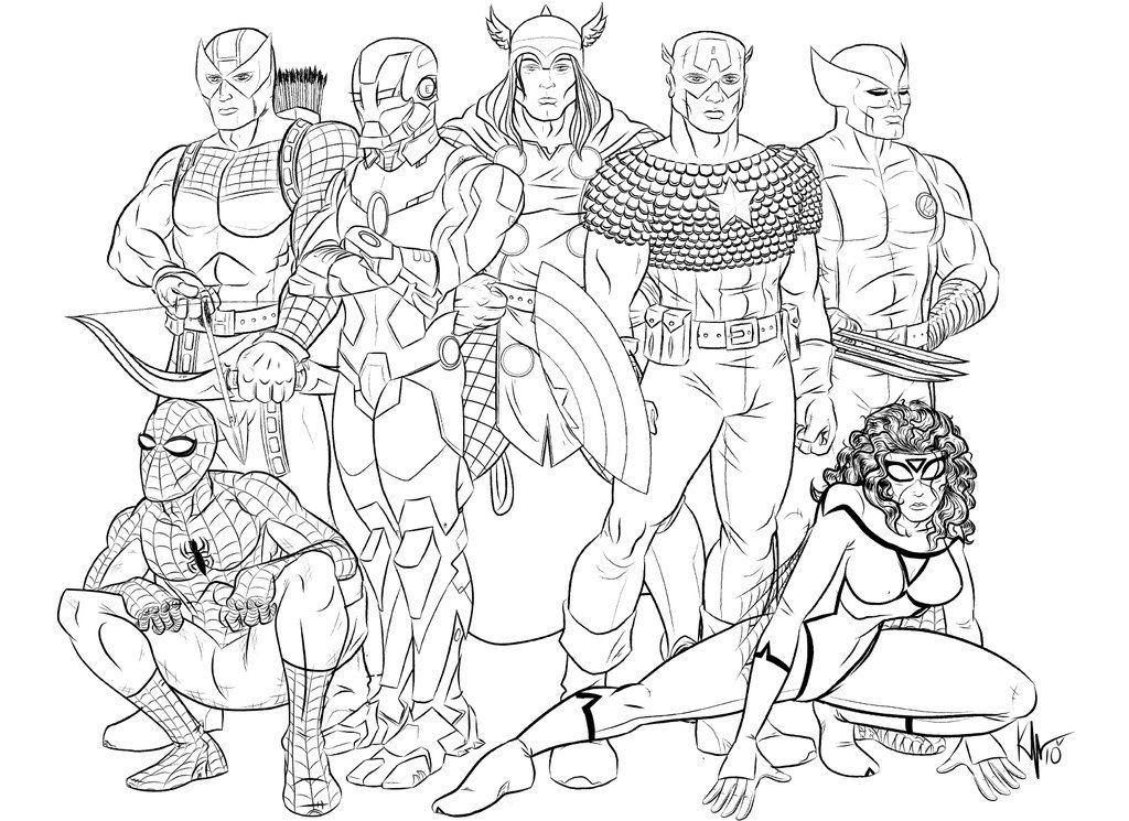 Free Printable Avengers Coloring Pages AZ 8