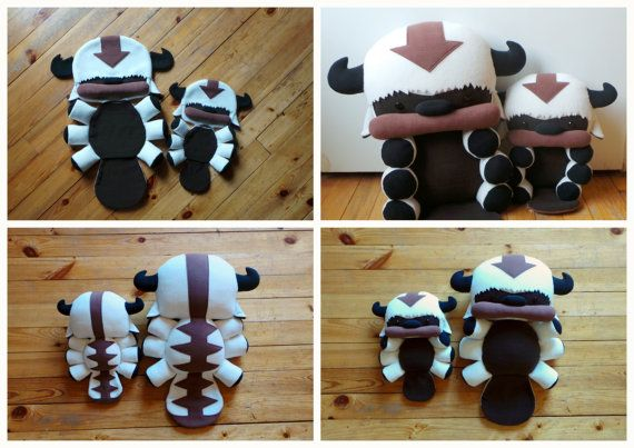 READY TO SHIP 60cm lenght Appa plush The Legend of