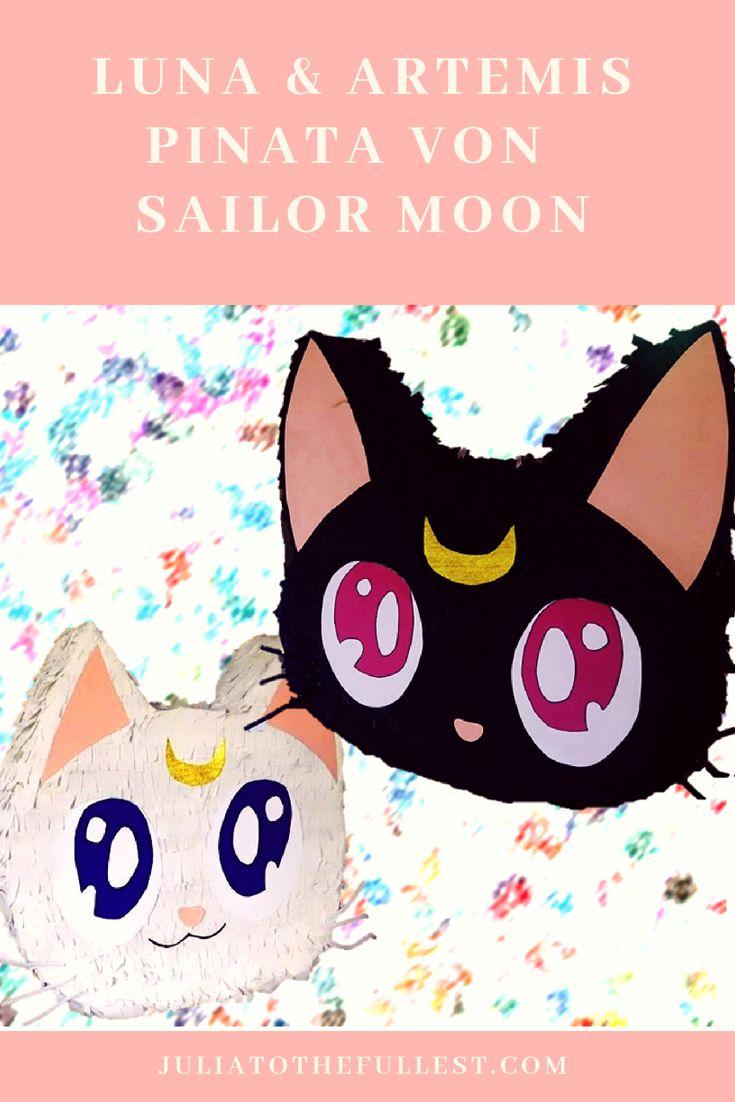 anleitung f r sailor moon pinata artemis luna m a k e. Black Bedroom Furniture Sets. Home Design Ideas