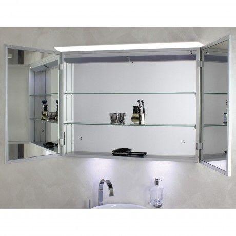 KOH-I-NOOR Top LED Spiegelschrank beleuchtet mit Oberbeleuchtung