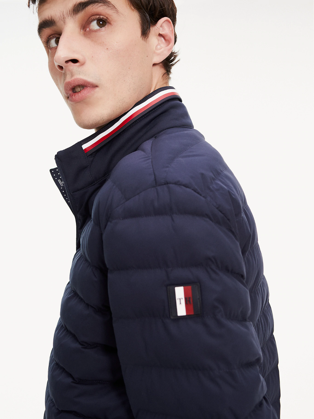 Padded Quilted Jacket Blue Tommy Hilfiger Jackets Tommy Hilfiger Quilted Jacket [ 1333 x 1000 Pixel ]