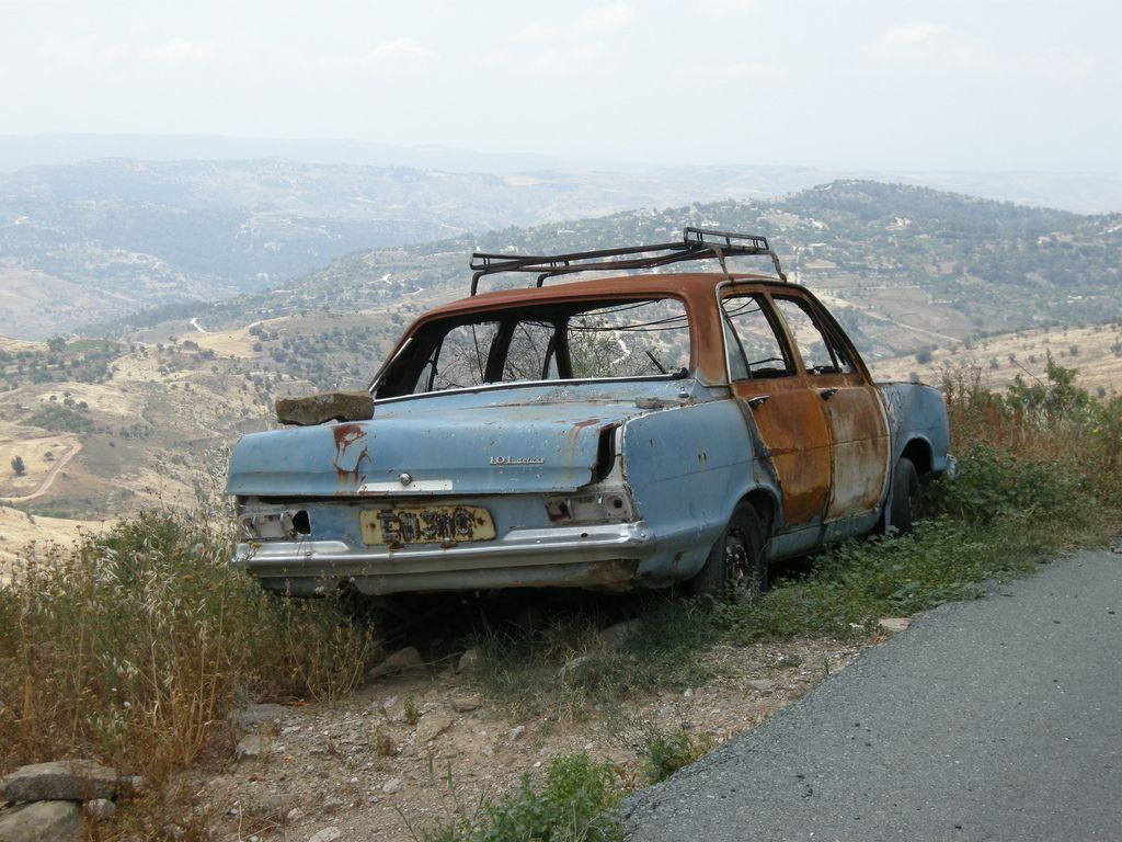 Abandoned Car Troodos Mountains Cyprus