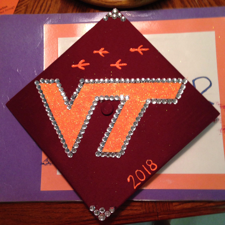 . Virginia Tech grad cap decoration   crafts    Graduation cap