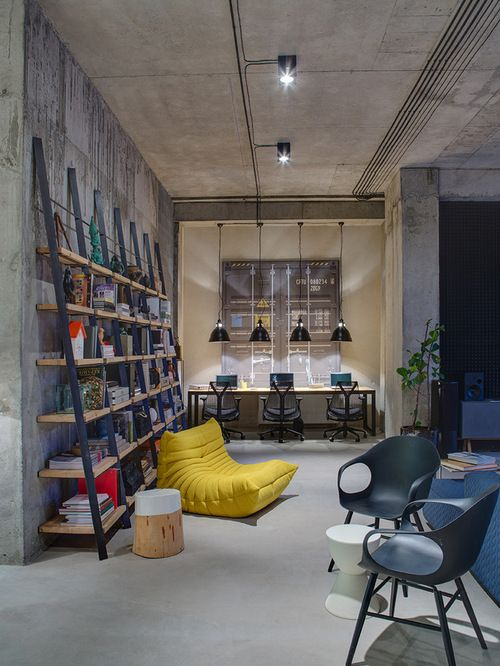 21 Industrial Home Office Designs With Stylish Decor Modern Office Space Industrial Home Offices Home Office Design