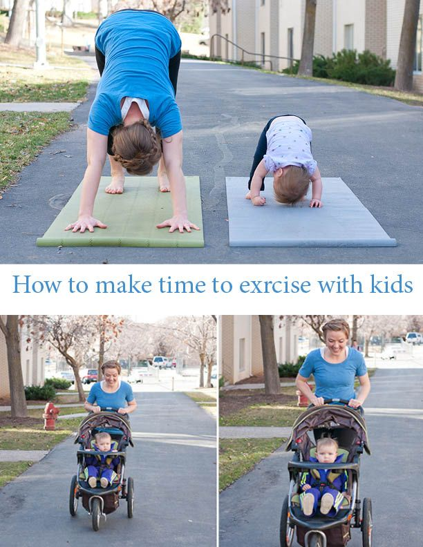How To Find Time To Exercise With Kids Exercising Tips Workout Plan Jeni Mommy And Baby Yoga Workout Plan Exercise