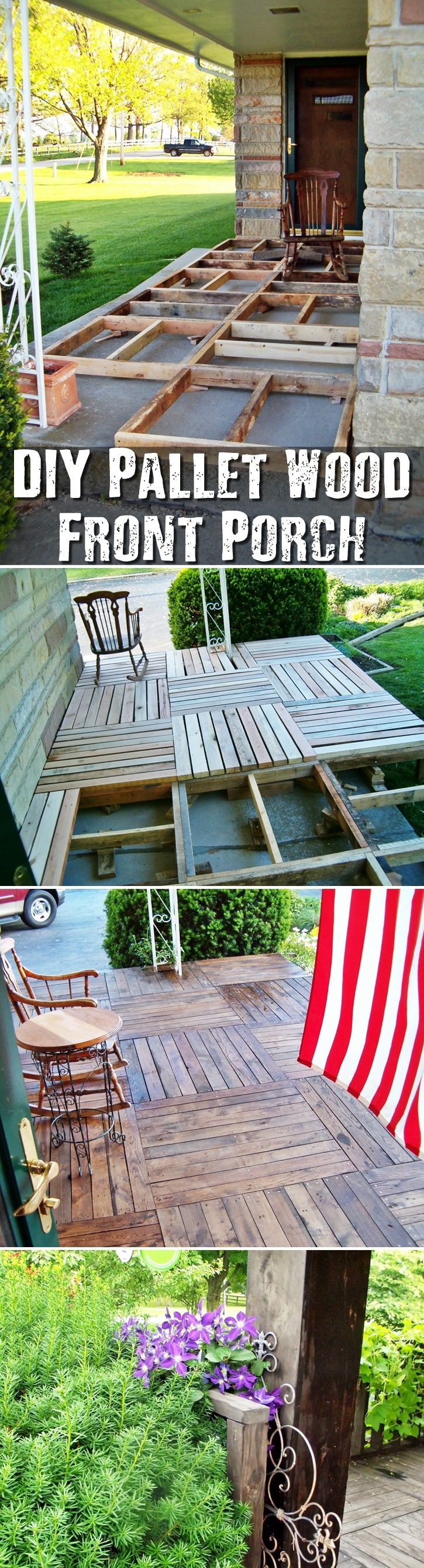 DIY Pallet Wood Front Porch This