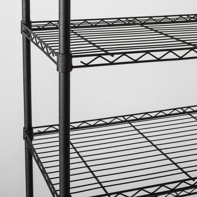 5 Tier Wide Wire Shelf Black Made By Design Wire Shelving Made By Design Shelves