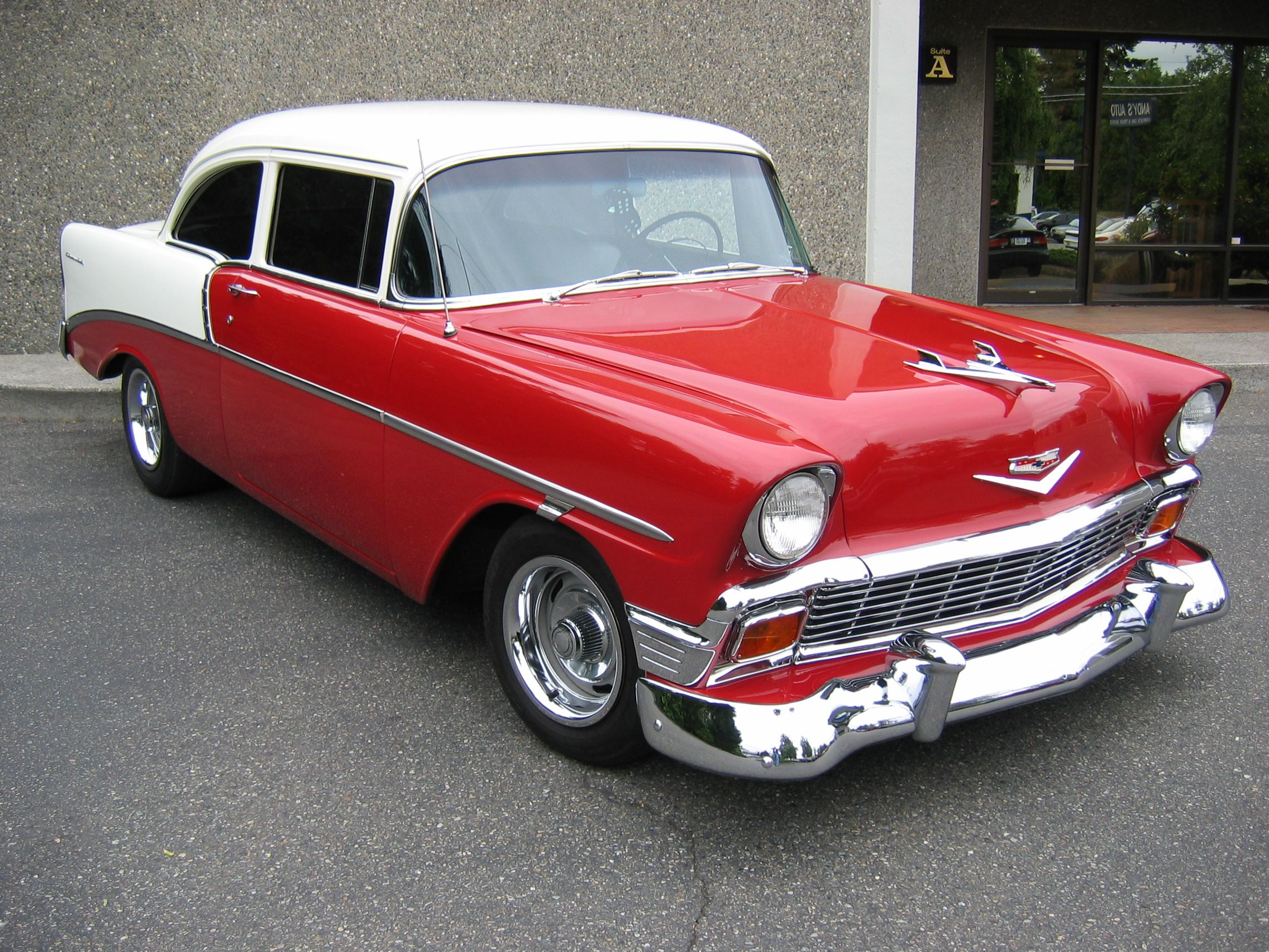 Hd 1956 chevy red white wallpaper download free 127662