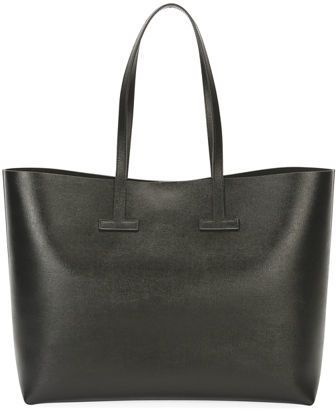 Tom Ford Saffiano Large Leather T Tote Bag Tote Bag Bags Leather