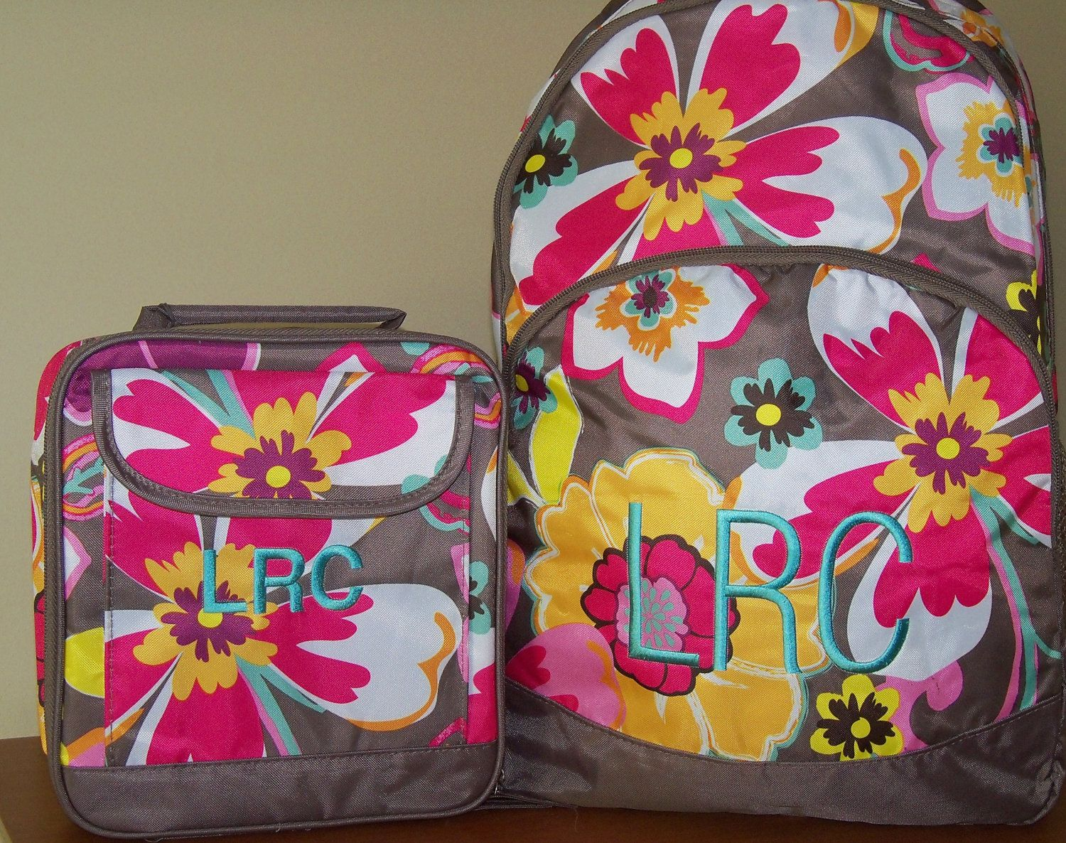 Girls Backpack and Lunch Box Set- FREE PERSONALIZATION | Lunch box ...