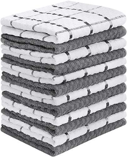 Utopia Towels 12 Pack Kitchen Towels, 15 x 25 Inches Cotton Dish Towels, Tea Towels and Bar Towels #dishtowels