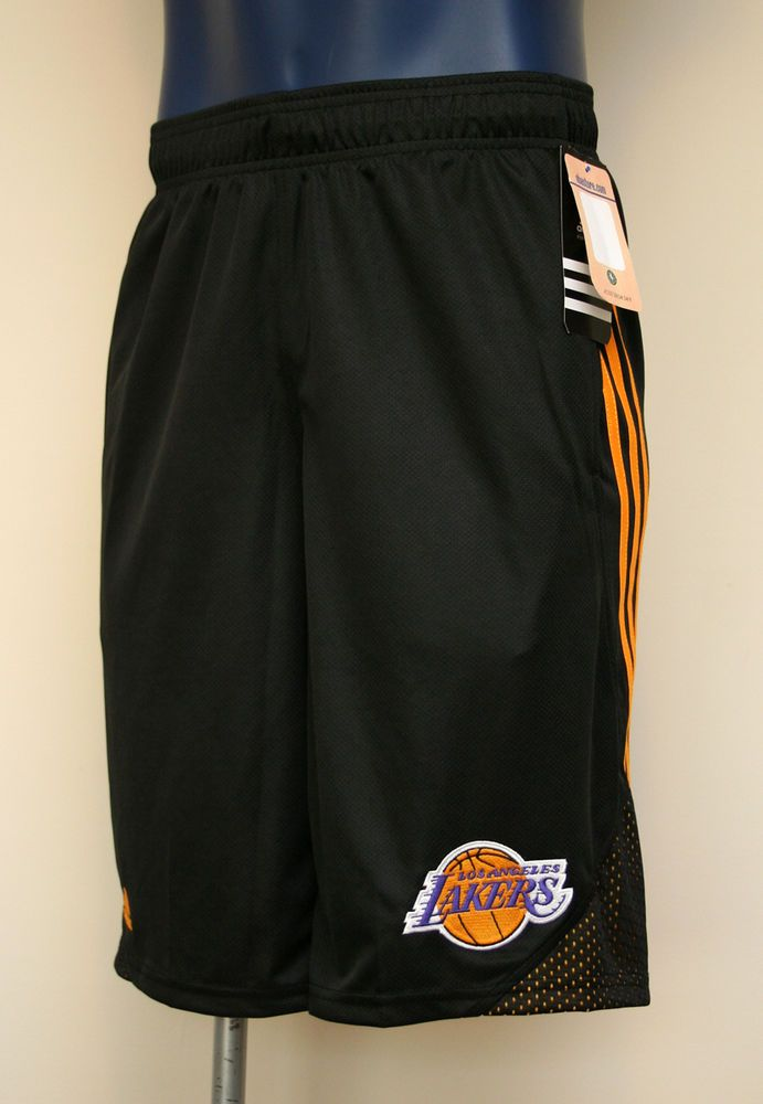 a4a433de2 Los Angeles Lakers NBA adidas 3-Stripe Hoops Men s Shorts Black Yellow   adidas  Athletic
