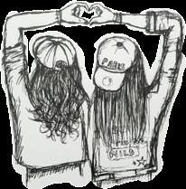 Freetoedit Scbff Girl Girls Bff Friends Drawing Remixit In 2020 Drawings Of Friends Best Friend Drawings Bff Drawings
