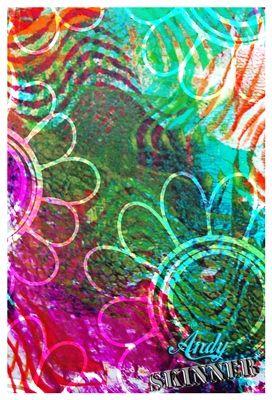 Andy Skinner Stencil Gelli Printing Plate