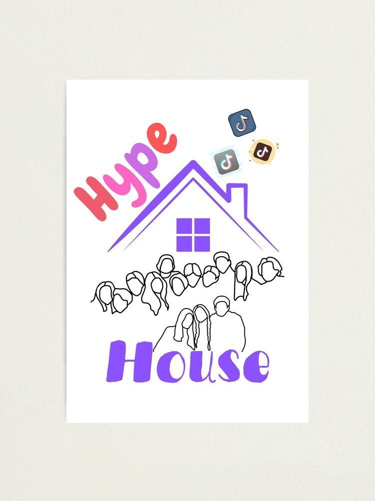 Hype House Tiktok Design Photographic Print By Artyartisticart Redbubble Photographic Print Print Design