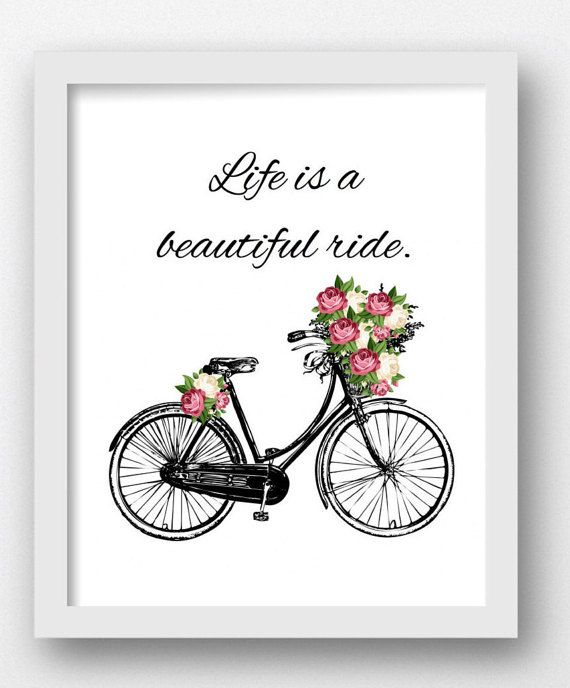 Life Is A Beautiful Ride Quote Affirmation By Maxmeoneuniverse