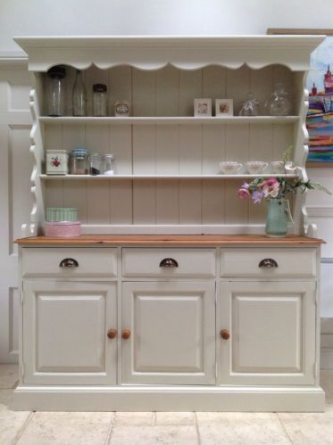 Superb Hand Painted Dresser Solid Pine Welsh Sideboard Farmhouse Style Kitchen Unit