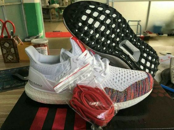 buy popular 9cade 1db7a adidas Ultra Boost PrimeKnit Multi Color Rainbow White Black UK Trainers  2017 Running Shoes 2017