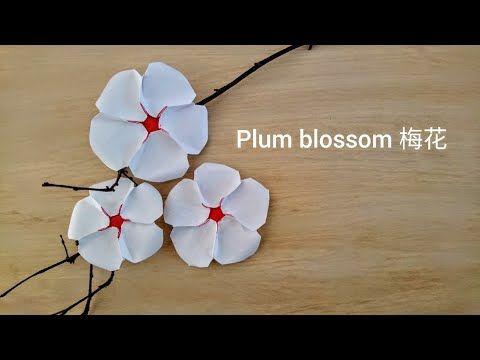 Origami plum blossom flower youtube arte carta origami plum blossom flower youtube mightylinksfo