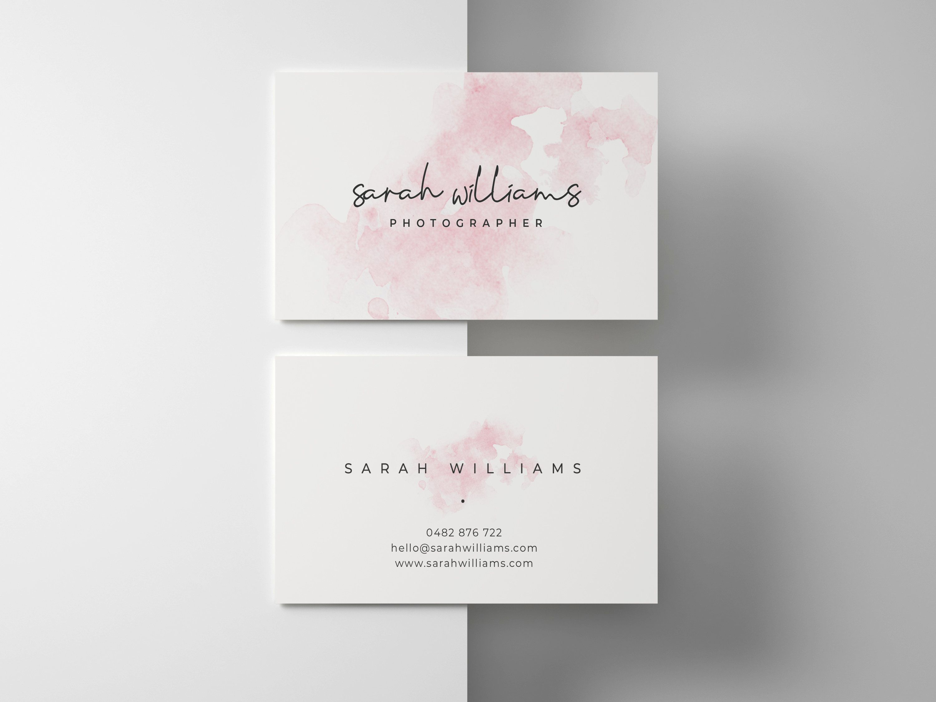 Business Cards Template Business Thank You Cards Thank You Etsy Salon Business Cards Artist Business Cards Watercolor Business Cards
