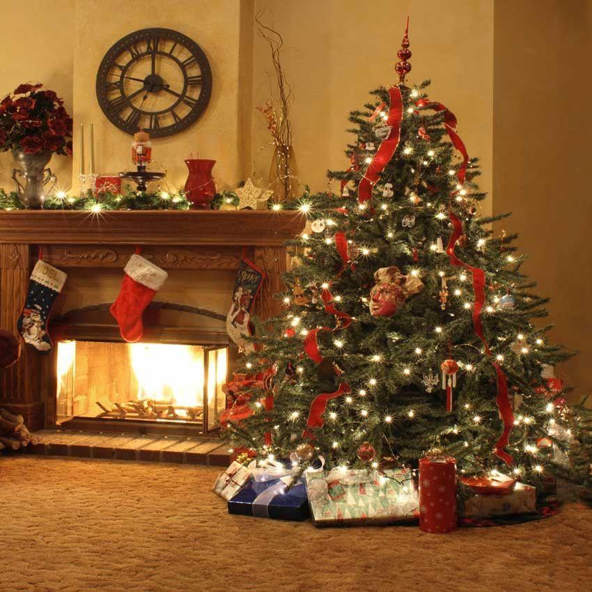 Pin On Christmas Christmas tree living room background