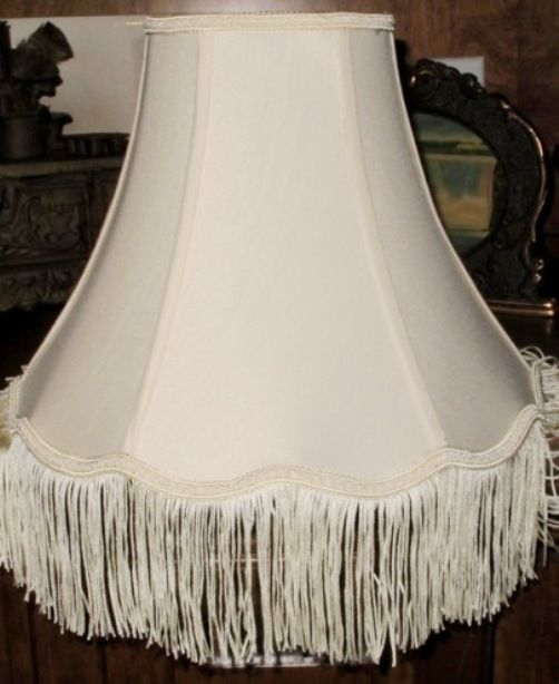 Victorian Scallop Bell Silk Uno Lamp Shade Cream Color 5 5 X10 X8 6 5 X12 X9 6 X14 X11 Victorian Lampshades Victorian Lamps Lamp Shades