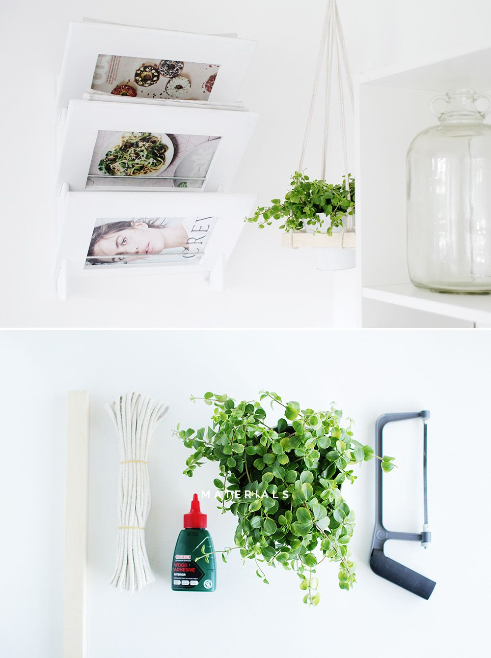 Fall For DIY Square Hanging Planter A