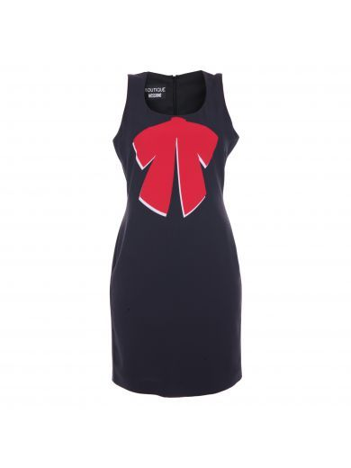 Boutique Moschino Bow Print Dress In Black Red Modesens Boutique Moschino Print Dress Moschino Dress