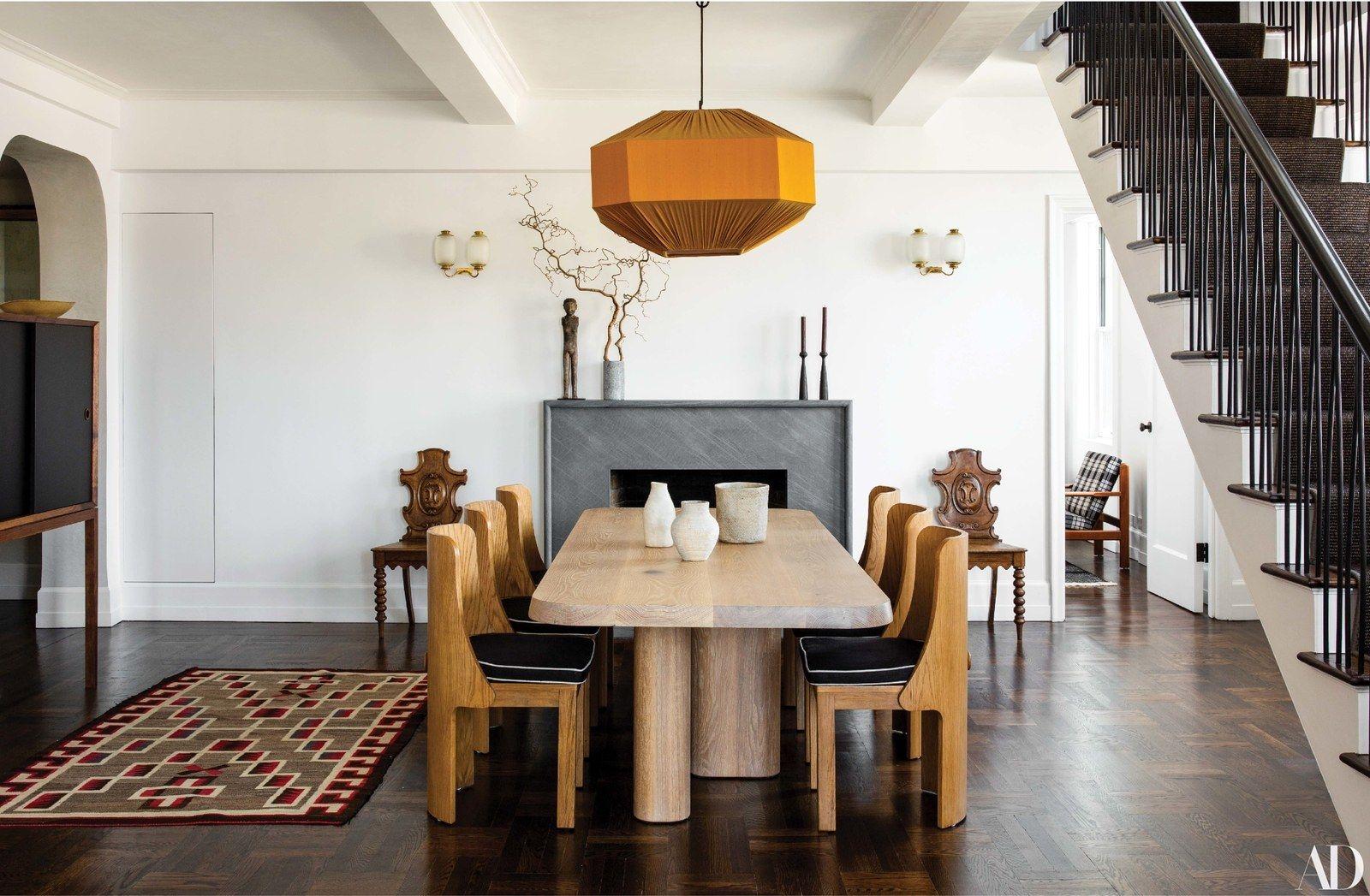 Step Inside Seth Meyers S Manhattan Duplex Oak Dining Chairs Architectural Digest Room