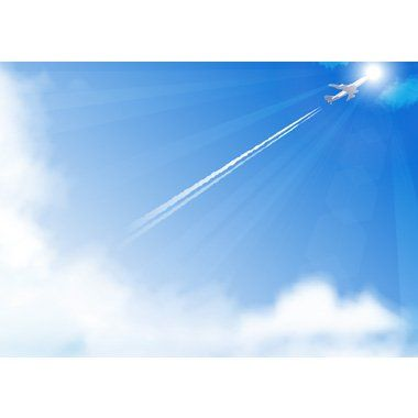 青空に飛行機雲が流れる無料背景イラスト Blue 3 In 2019 飛行機雲