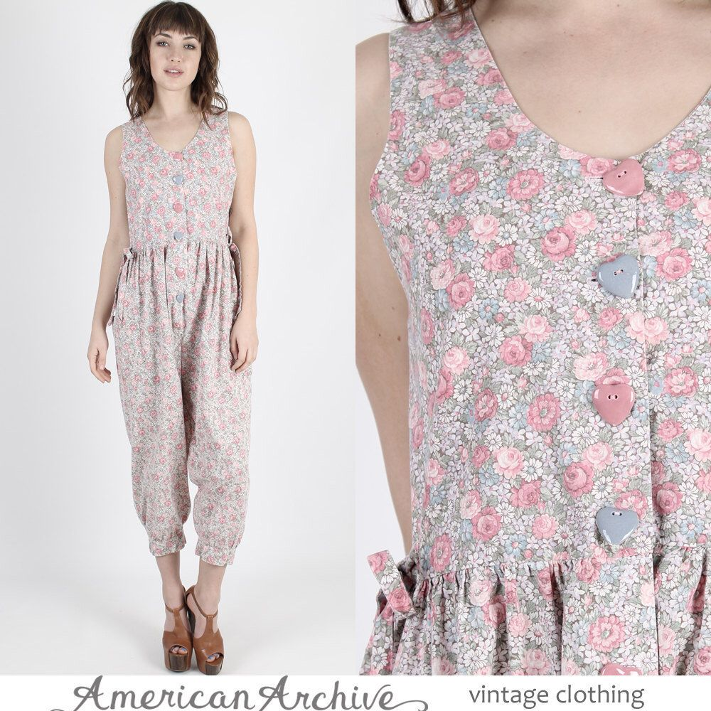 Grunge Jumpsuit Boho Jumpsuit Boho Jumpsuit 90s Jumpsuit Vintage 80s Pastel Floral Jumpsuit Babydoll Bubble Boho Hippie Grunge Playsuit M by americanarchive on Etsy https://www.etsy.com/listing/504416002/grunge-jumpsuit-boho-jumpsuit-boho