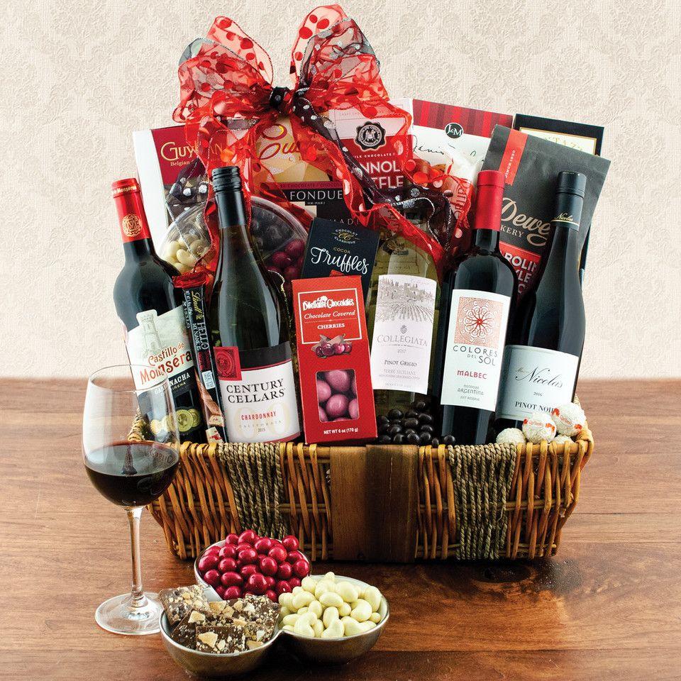 Fine wines sampler gift basket delicious fruit plum