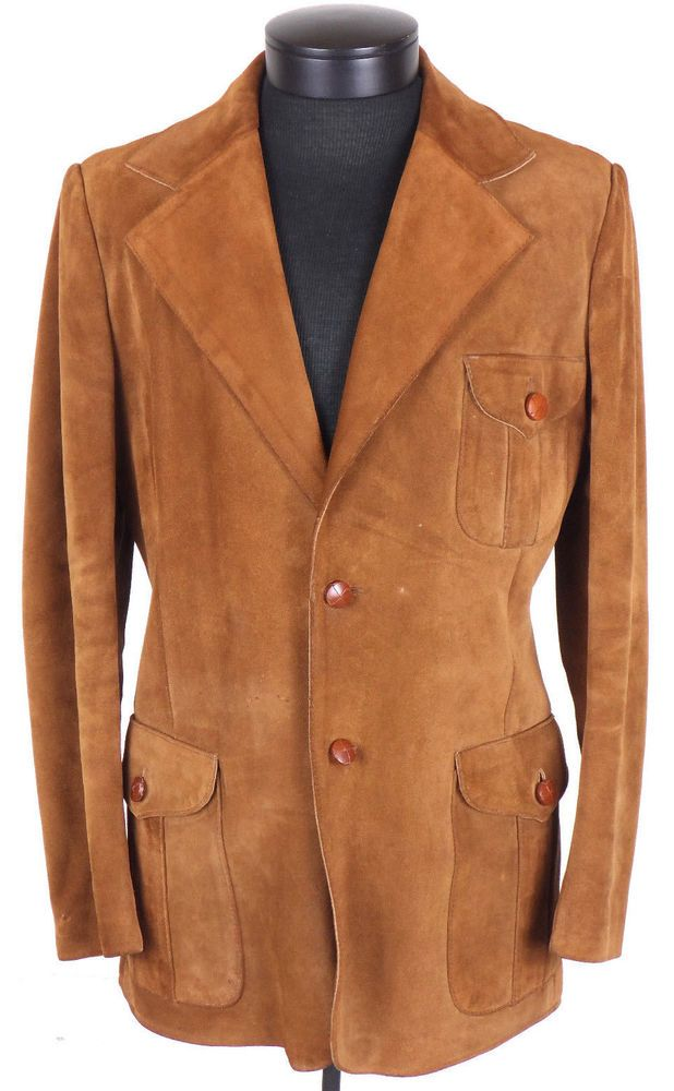 1022f4044 Details about Ericson of Sweden Suede Leather Jacket Mens Sz 36 ...