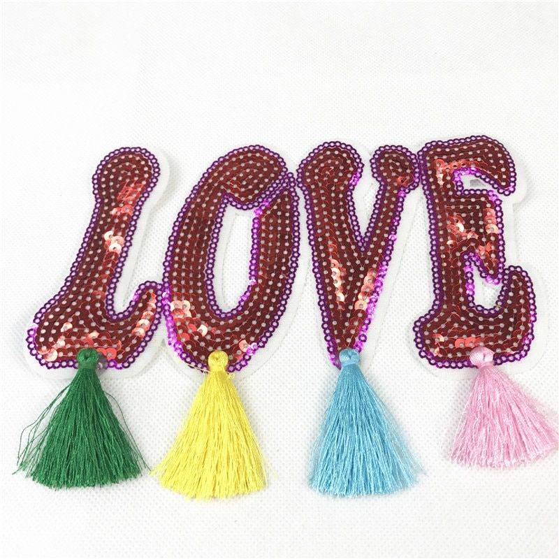 Love Sticker Patch Sequins DIY Sewing