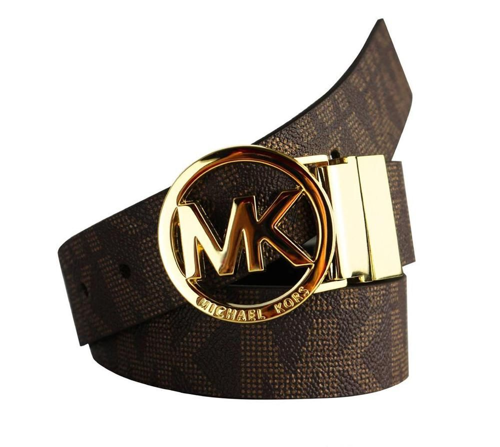 fa5e22131 Michael Kors MK Logo Belt Reversible. And Buckle Reversible. Reversible ( Black To Brown). Silver Buckle. SILVER The belt color is black to brown.
